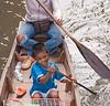Child at the Damnoensaduak Floating Market outside Bangkok in October 2008
