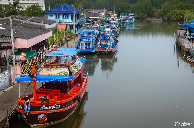 fishing boats at Ban Nam Chiao