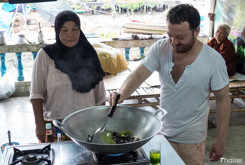 cooking long-tongue crab