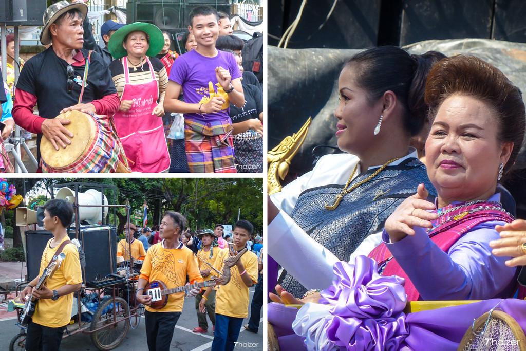 enjoying the Ubon Ratchathani Candle Festival
