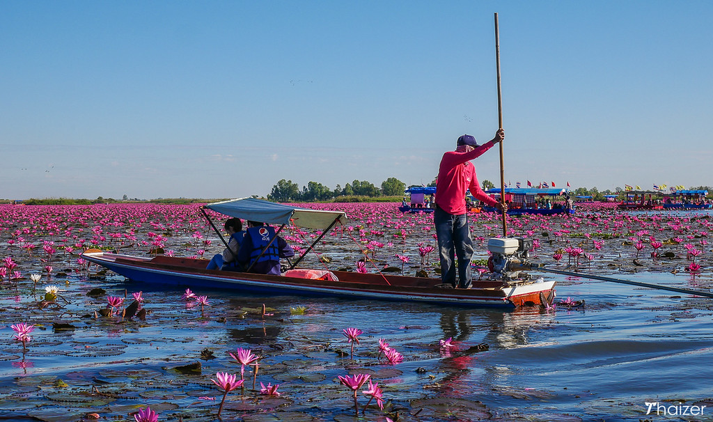 small boat at Red Lotus Sea