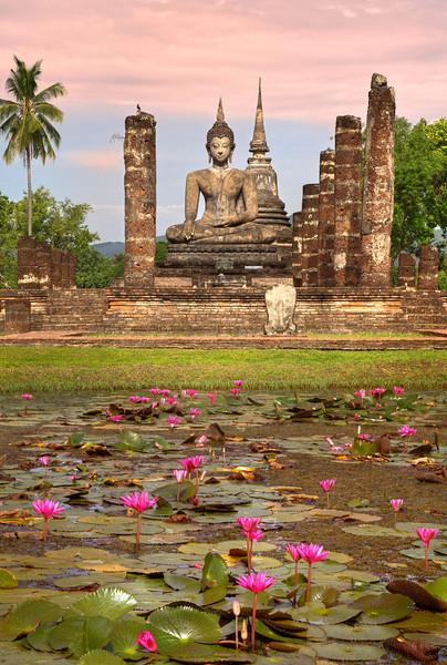 Early Light in Sukhotai. Thailand.