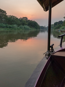 Sunset view of the Mae Ping River from the Mae Ping Dinner Cruise