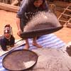 Akha woman winnowing grain, Mai Salong area, Thailand