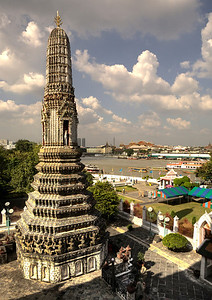 "View of Chao Phraya River From Wat Arun. 14""x20""."