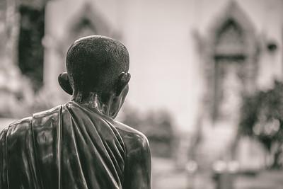 Wat Chiang Man Monk Statue