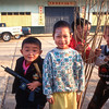 Yunnan boys with guns, Mai Salong, Thailand