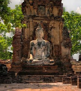 """Ayutthaya. Wat Mahathat No1. 15"""" x 17""""."""