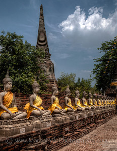 "At the Back of Wat Yai Chai Mongkhon. Ayutthaya. 15""x20""."