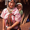 Akha woman and baby, Mai Salong area, Thailand