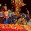 Illuminated float in King's Birthday Parade, Bangkok, Thailand