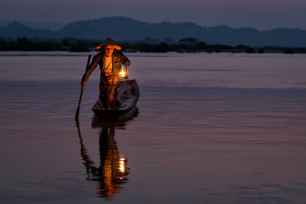 Early Morning along the Mekong River, Thailand