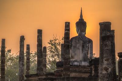 Sunrise in Sukhothai on Christmas Morning