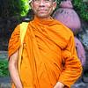Monk of Wat Pho (วัดโพธิ์), Phra Nakhon district, Bangkok, Thailand