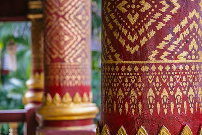 Wat Chiang Man Painted Columns
