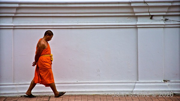 Monk in saffron