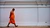 Monk in saffron