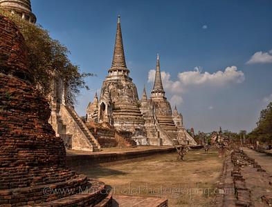 "Ayutthaya. Wat Phra Si Sanphet. 15"" x 11"""