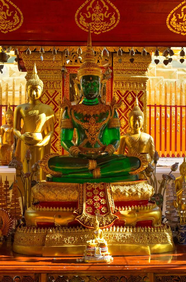 Emerald Buddha at Wat Doi Suthep in Chiangmai