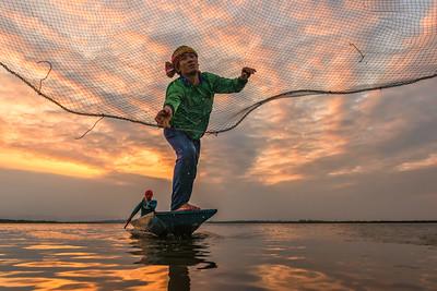 Casting His Net...