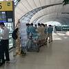 Seoul Airport and Korean flight attendants.