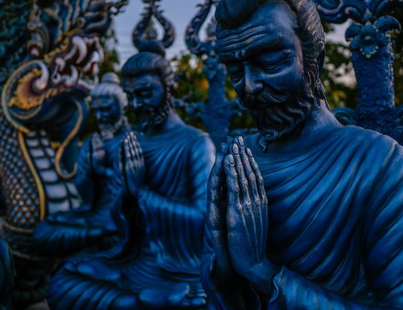 Blue Monks Praying