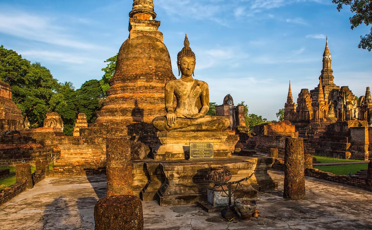Sukhotai Buddha in Early Morning. Sukhotai. Thailand