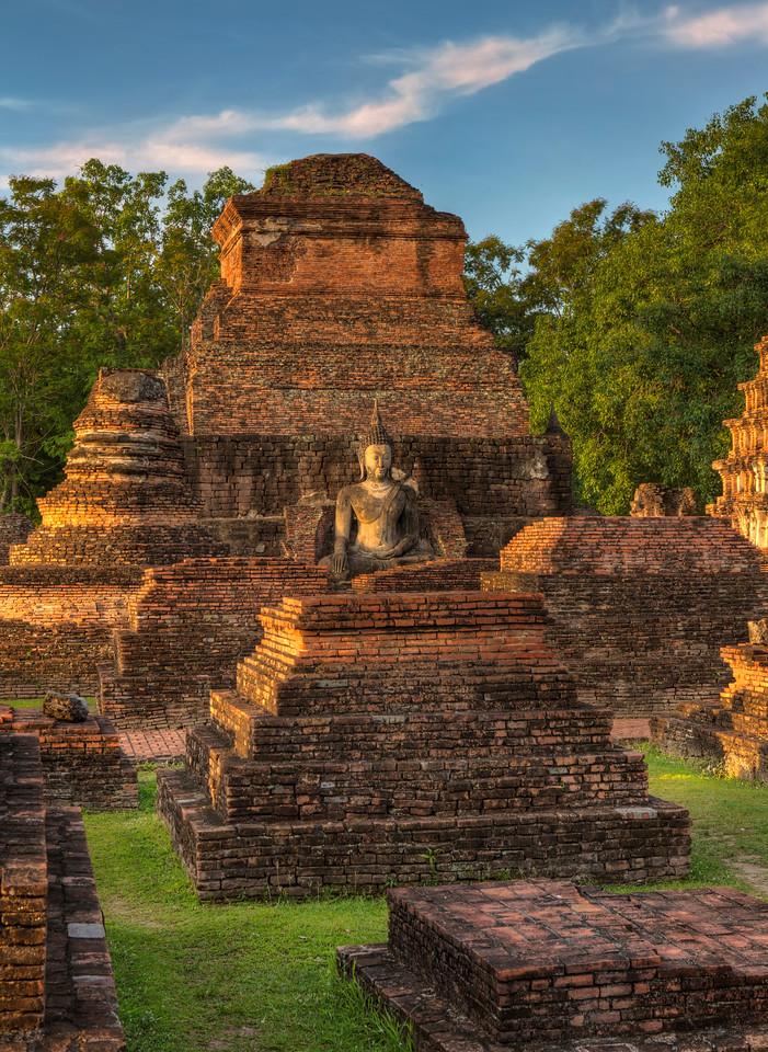Ruins in Sunlight. Sukhotai. Thailand