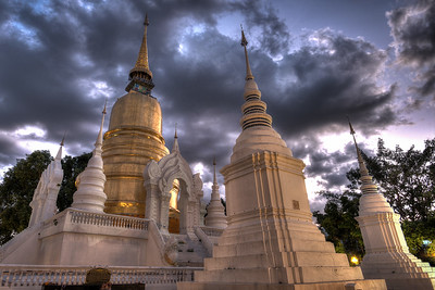 Wat Suan Dok at Night