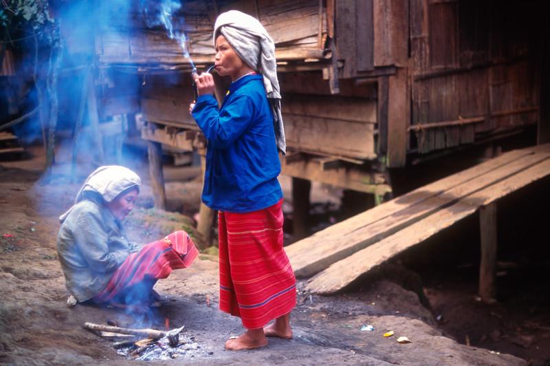 Early morning in Karen village, Pai area, Thailand