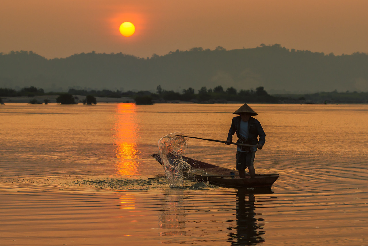 Water and Sunlight, Mekong River, Thailand