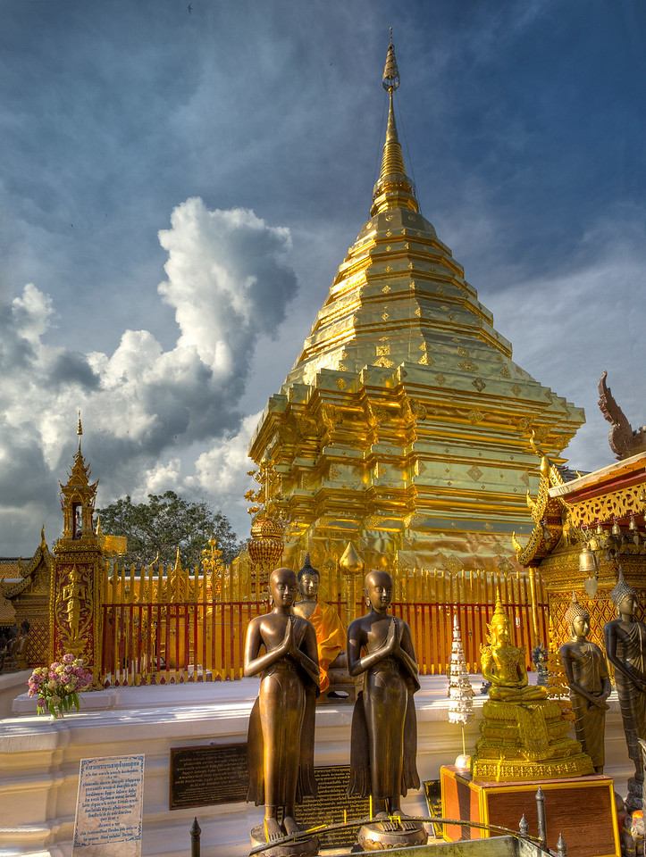 Main Chedi at Wat Doi Suthep in Chiangmai