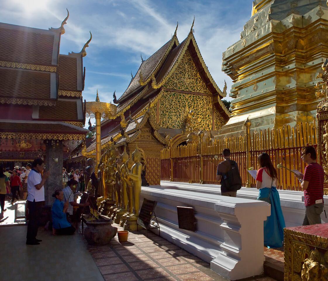 Circumambulating at Wat Doi Suthep in Chiangmai