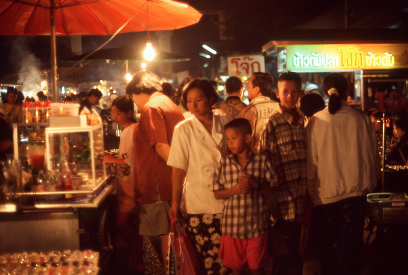 Night market, Phetburi, Thailand