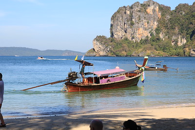 Long Tail Boat at Het Rai Lah West -- just outside our hotel room