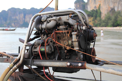 A typical Long Tail boat engine
