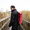 Thames;Cromwell;Roll Top Backpack;14'';44-402-RED;On The Model