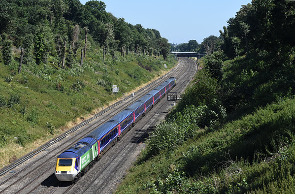 43144 Building a Greater West + 43126 Bristol 2015 1A16 0741 Penzance to London Paddington Sonning Cutting Warrens Road Bridge 1327