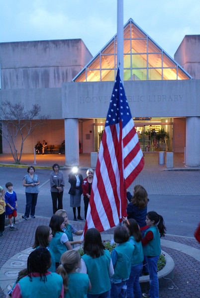 Flag Lowering November 9, 2009
