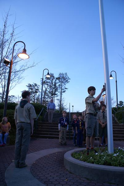 Flag Lowering November 13, 2009