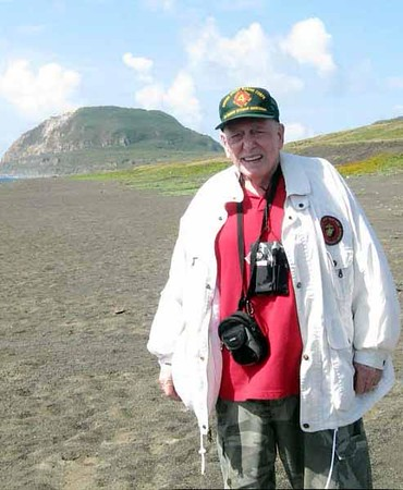 Chuck Beveridge at Iwo Jima