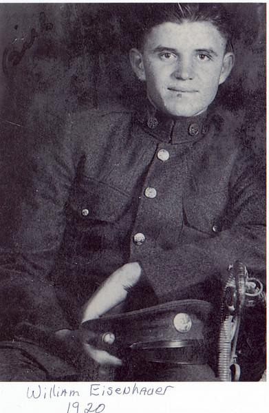 William Eisenhauer - Age 18 U.S. Calvary - 1920