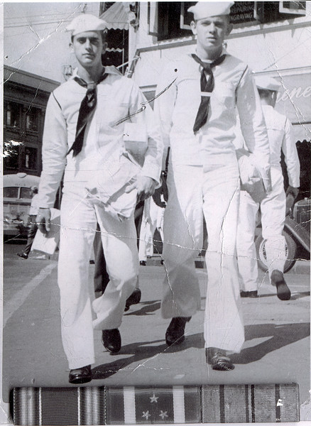 Bob Jones (Left) - U.S. Navy WWII - Petty Office