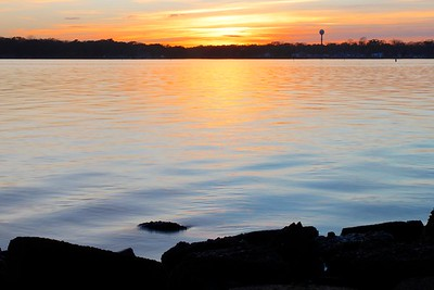 Sunset in Island Heights, NJ Thanksgiving 26 November 2015