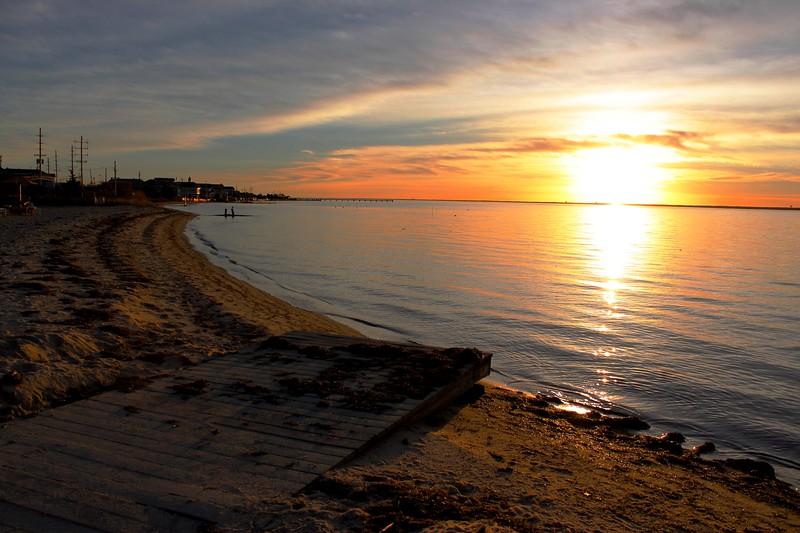 Sunset in Seaside Park, NJ<br /> 5th Ave Recreational Park<br /> 26 November 2015