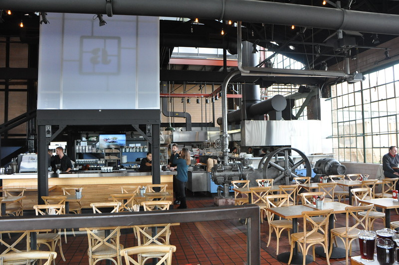 The steam plant is now a restaurant and bar.