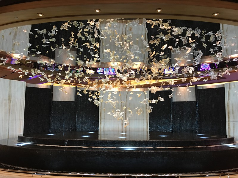 The fountain in the new hotel entrance to the Graton Indian casino in Rohnert Park.  This is the nearest casino to San Francisco.  The gamblers are brought in by the busload.