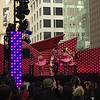 Black Friday in downtown San Francisco just off Union Square.  Here a rock and roll music nutcracker ballet is being performed on a street stage.