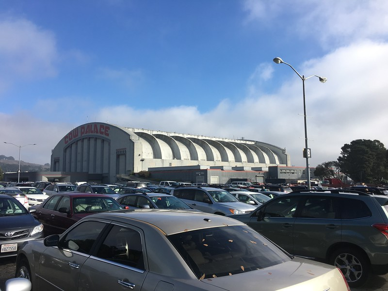 At the Cow Palace in south San Francisco for the Dicken's Christmas Fair.