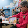 Fitchburg Mayor Stephen DiNatale read the book A Charlie Brown Thanksgiving at the Thanksgiving rivalry fundraiser held at Barnes & Noble in Leominster on Saturday, Nov. 23, 2019. SENTINEL & ENTERPRISE/JOHN LOVE